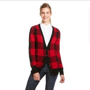 Plaid Cardigan | Mossimo | XXL